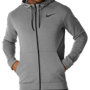 Nike pro training men's zip up. size M. Dark gray